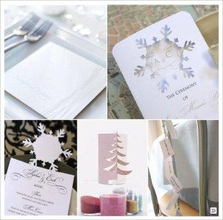 decoration_mariage_hiver_menu_flocon_guirlande_laine_sapin