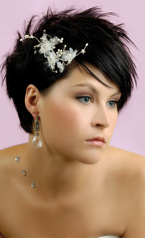 bridal-hairstyles-to-short-hair coiffure cheveu court dans coiffure
