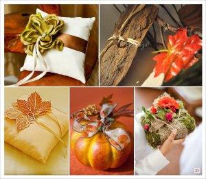 _mariage_automne_coussin_alliance_feuille_mousse_ecorce bois