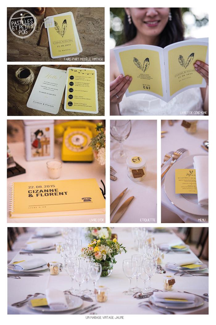un-mariage-vintage-jaune