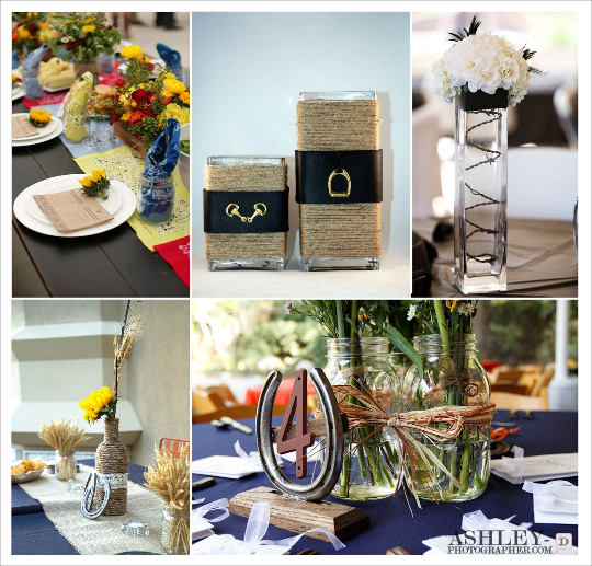 decoration_mariage_western-country-chic-equitation-centre_de_table_bandana_vase_barbele_bouteille_cordage_fer_cheval_ceinture