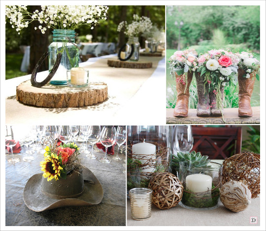 decoration_mariage_western-country-chic-equitation-centre_de_table_rondin_mason_jars_chapau_cowboy_santiags_boule_de_rotin