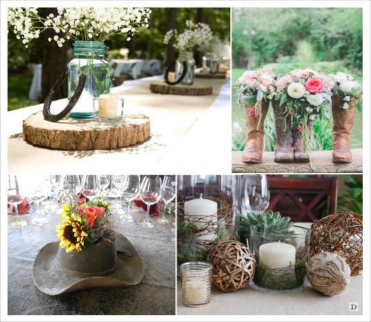 decoration_mariage_western-country-chic-equitation-centre_de_table_rondin_mason_jars_chapau_cowboy_santiags_boule_de_rotin