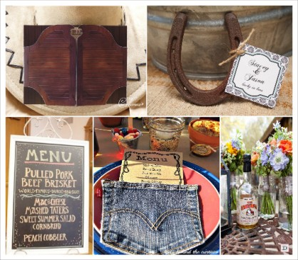 decoration_mariage_western-country-chic-equitation-menu_porte_saloon_fer_cheval_etiquette_bouteille_whiskey_tableau_ardoise_poche_jeans
